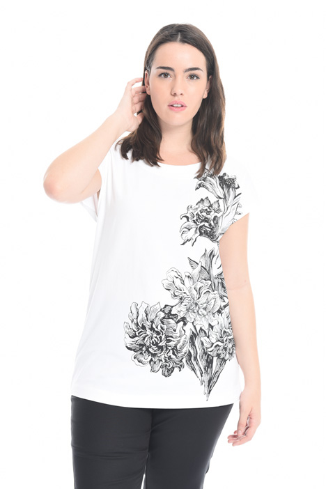 Printed T-shirt with embroidery Diffusione Tessile