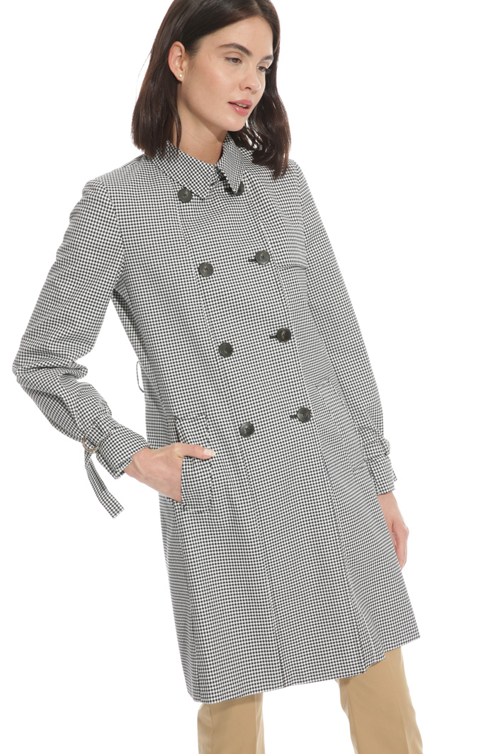 Trench in vichy fabric  Intrend