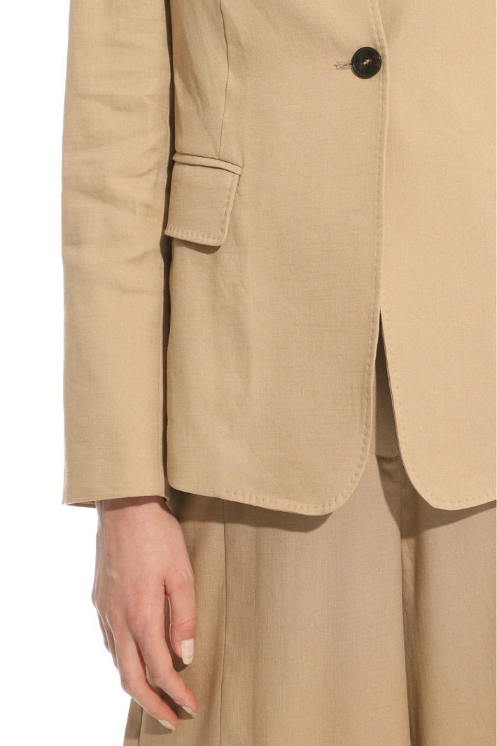 Interwoven linen blazer Intrend
