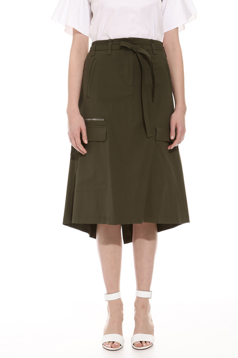 Technical gabardine skirt Intrend
