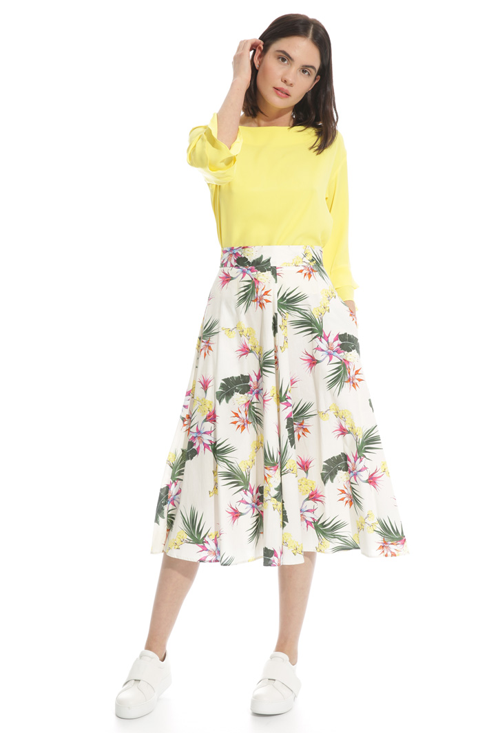 Midi skirt with pockets Intrend