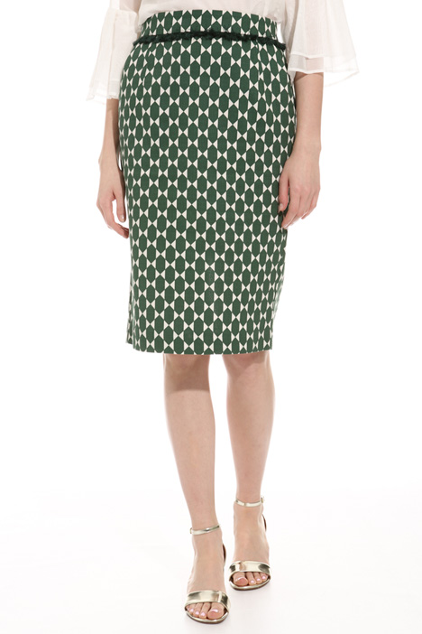 Printed pencil skirt Intrend