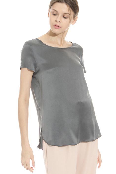 Silk satin T-shirt Intrend