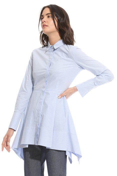 Flared asymmetrical shirt Intrend