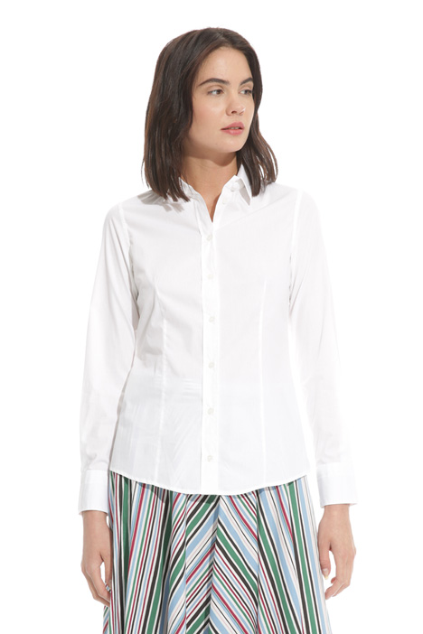 Fitted poplin shirt Intrend
