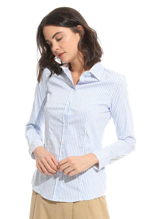 Fitted poplin shirt Diffusione Tessile