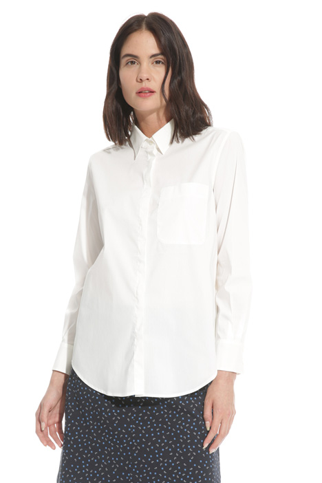 Crepe and poplin shirt  Intrend