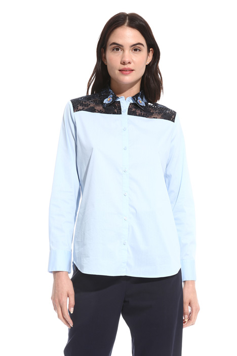 Organza and poplin shirt Intrend