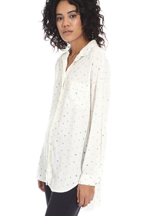 Oversized viscose shirt Intrend