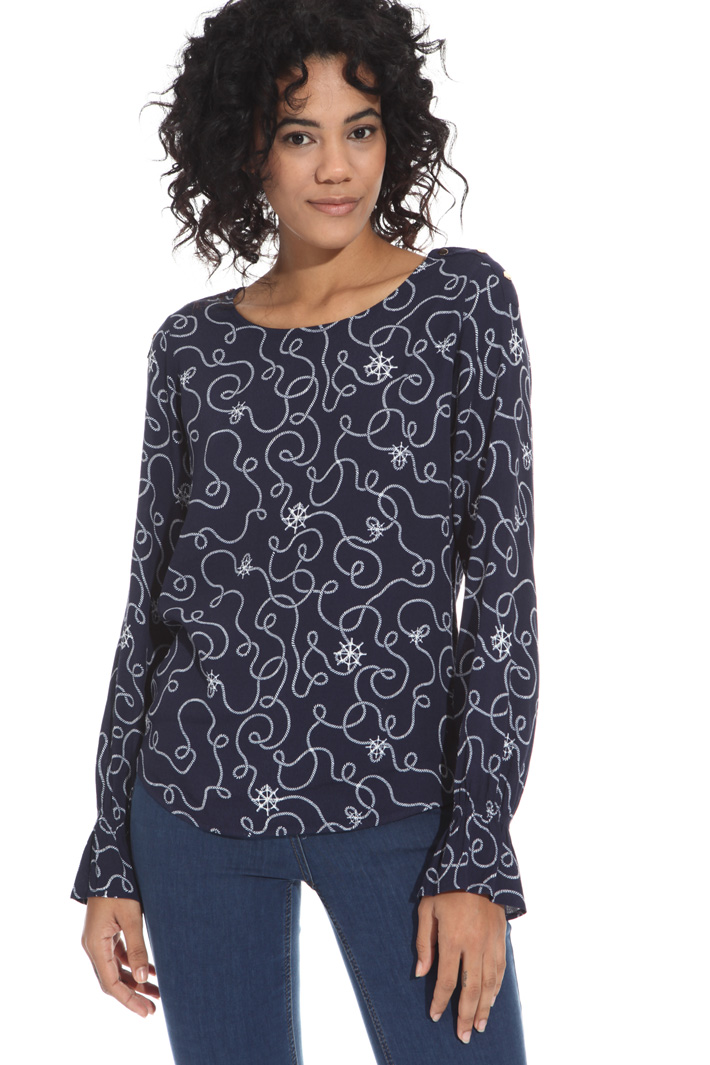 Blusa in fluido crepe Intrend