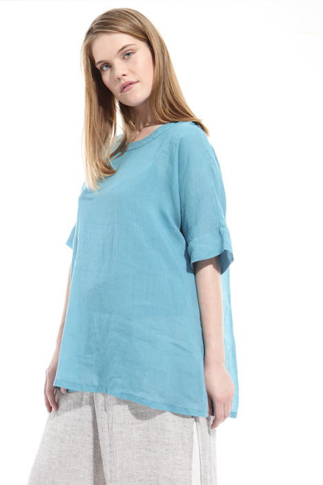 Flared ramie blouse Intrend