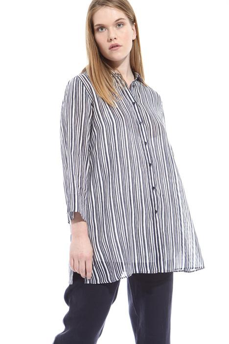 Camicia in lino stampato Diffusione Tessile