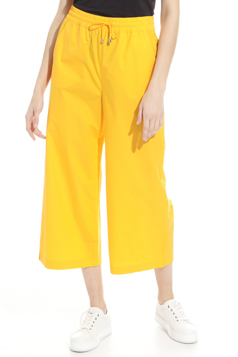 Cropped poplin trousers Intrend