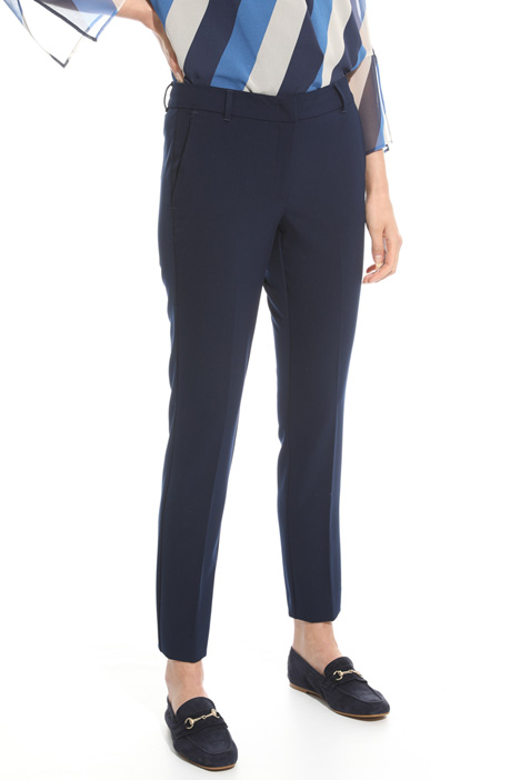 Compact twill trousers Intrend