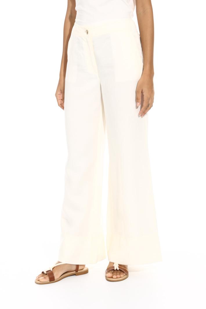 Wide-leg linen blend trousers Intrend