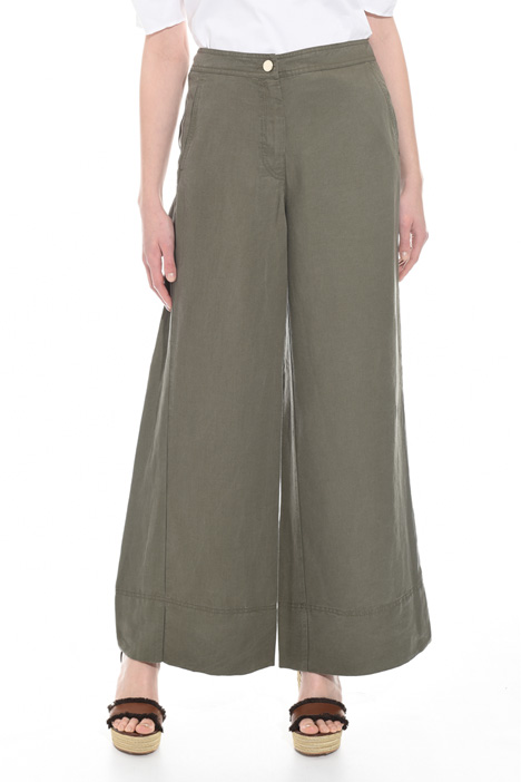Wide-leg linen blend trousers Intrend