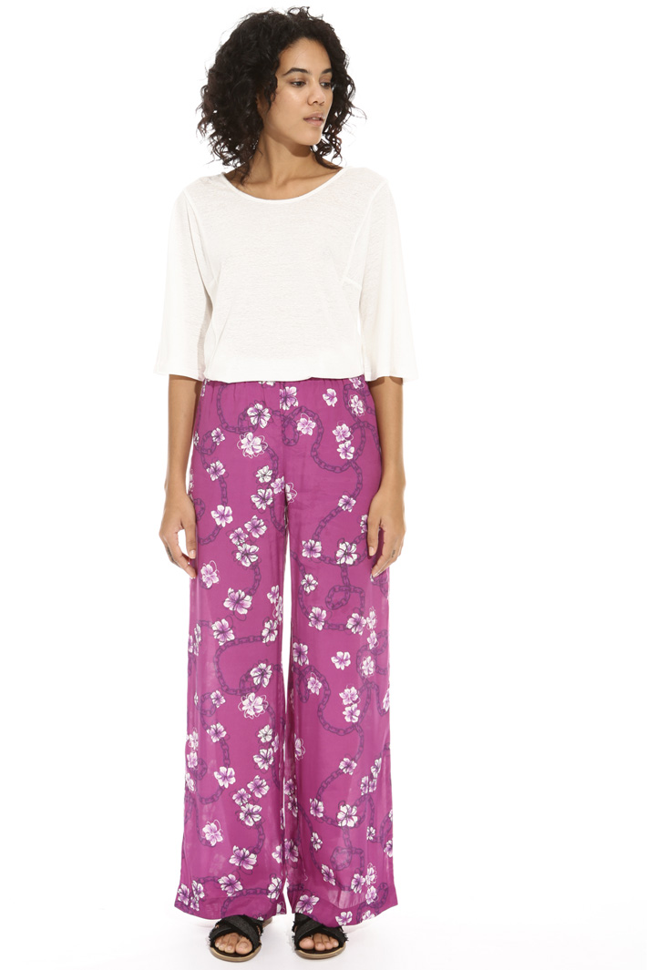 Viscose palazzo trousers Intrend