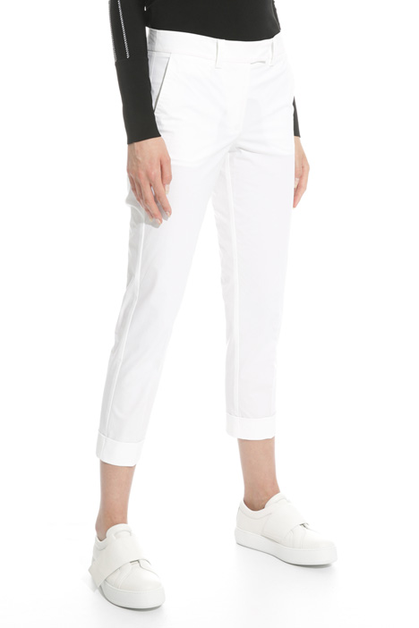 Stretch poplin trousers Diffusione Tessile