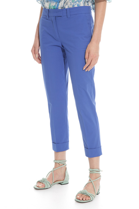 Stretch poplin trousers Intrend