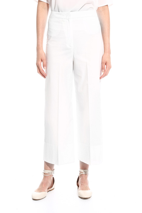 Cropped poplin trousers Diffusione Tessile