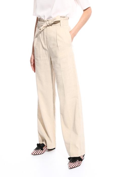 Slub fabric trousers Diffusione Tessile