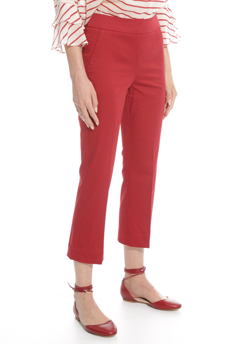 Flared cotton trousers Diffusione Tessile
