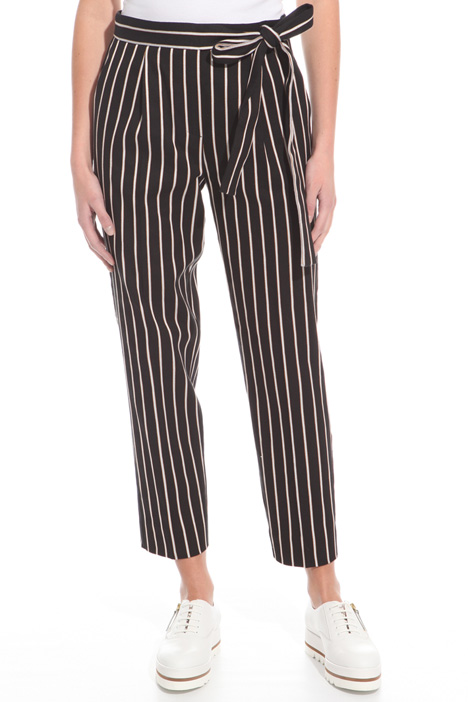 Yarn-dyed striped trousers Diffusione Tessile