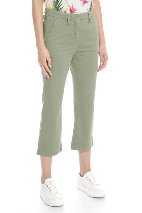 Flared satin trousers Diffusione Tessile