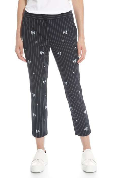 Embroidered canvas trousers Diffusione Tessile
