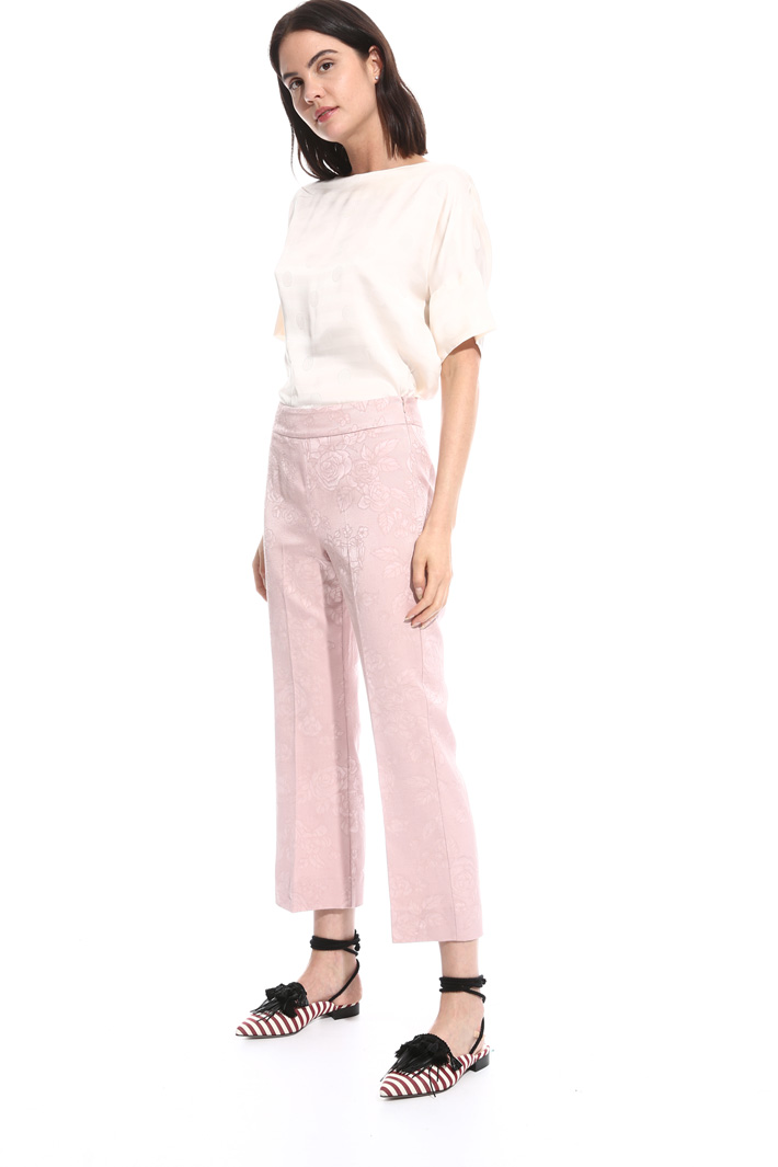 Straight-leg jacquard trousers Intrend