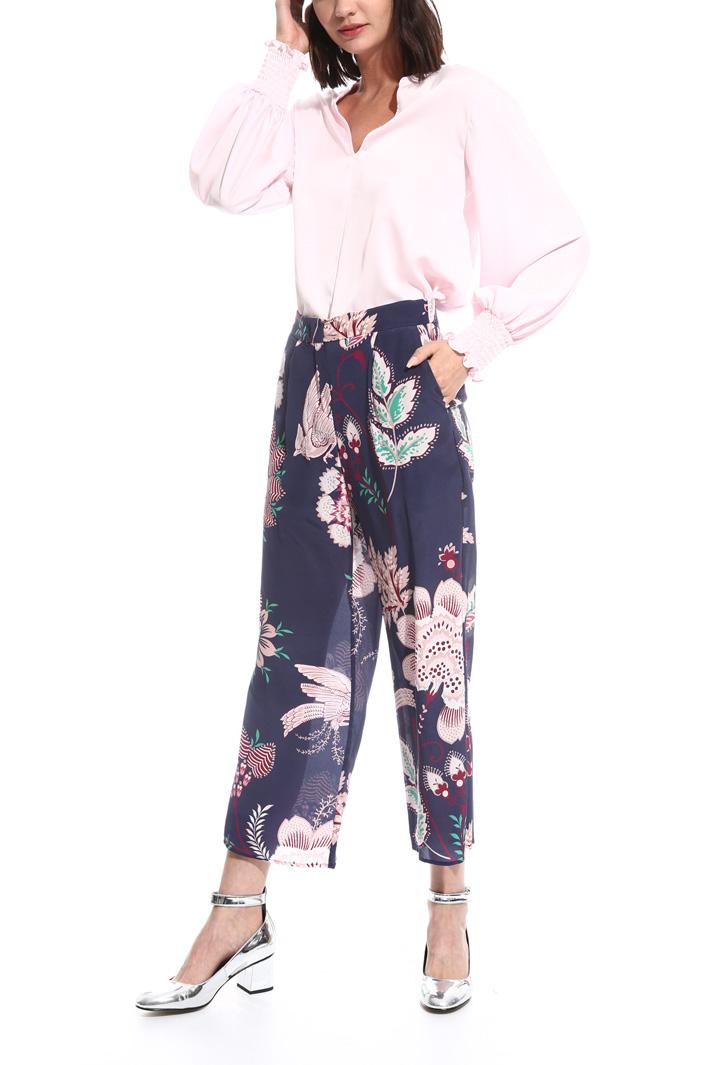 Pantalone cropped in seta Intrend