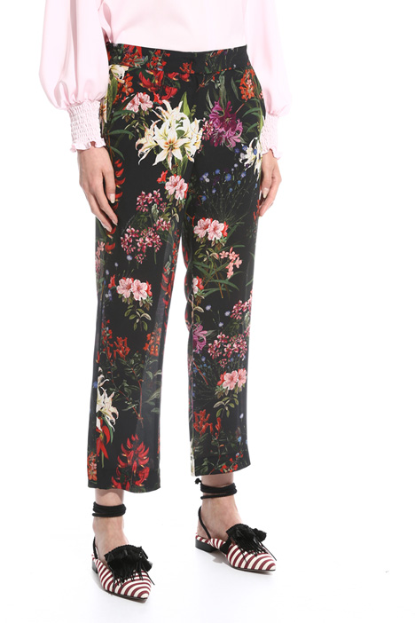 Printed silk trousers Diffusione Tessile