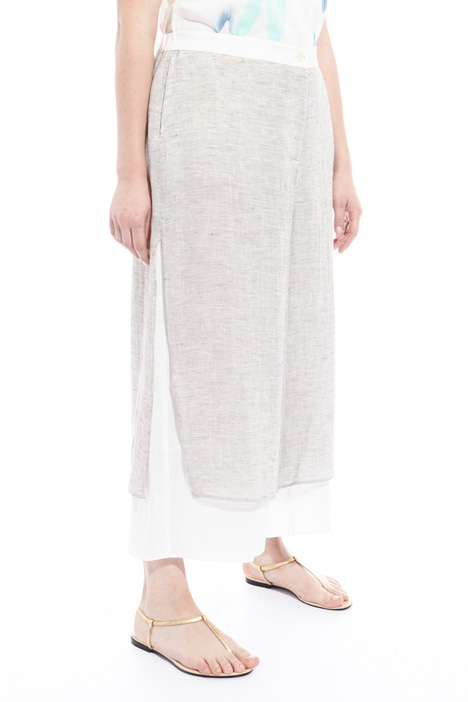 Linen gauze cropped trousers Intrend