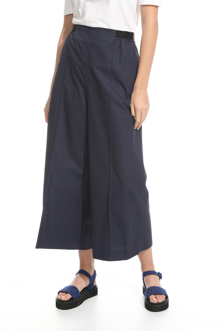 Flared poplin trousers Intrend