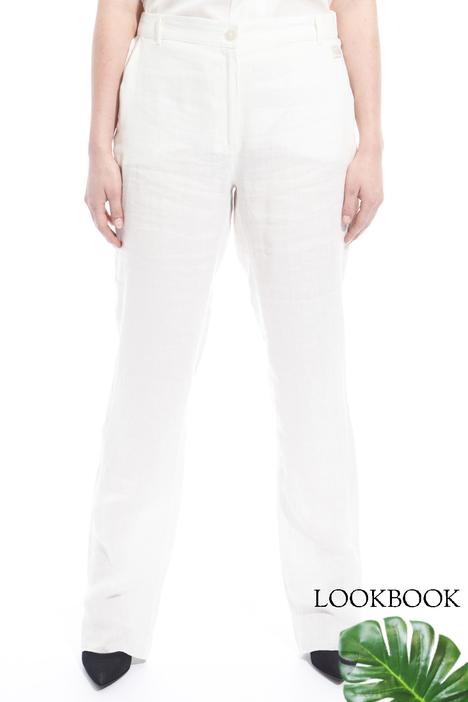 Pantaloni in tela di lino Diffusione Tessile