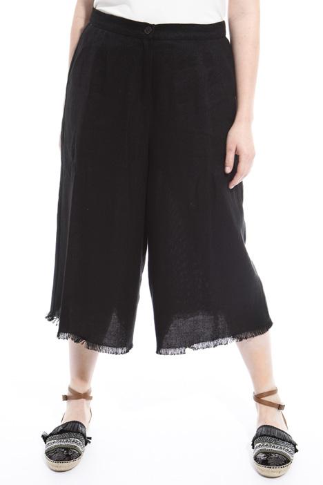 Pantaloni cropped sfrangiati Diffusione Tessile