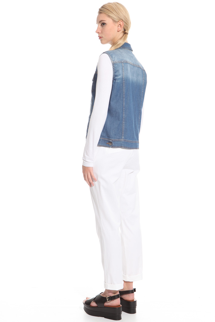 Denim stretch vest Intrend