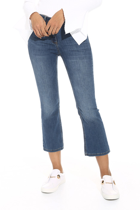 Jeans flare in denim Intrend