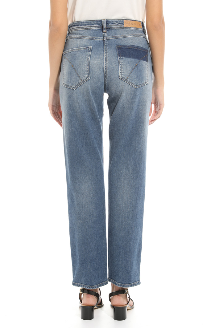 Contrasting band jeans Intrend