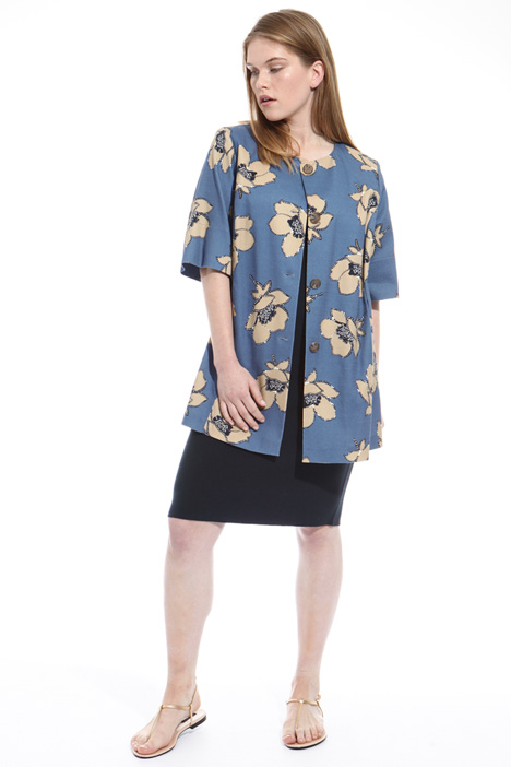 Interwoven cotton tunic Diffusione Tessile