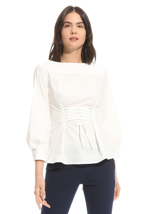 Laced cotton blouse Diffusione Tessile