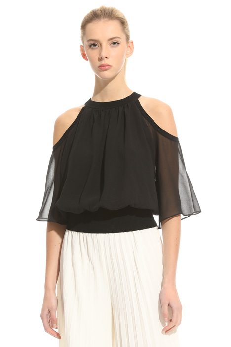 Top with cut-outs Diffusione Tessile
