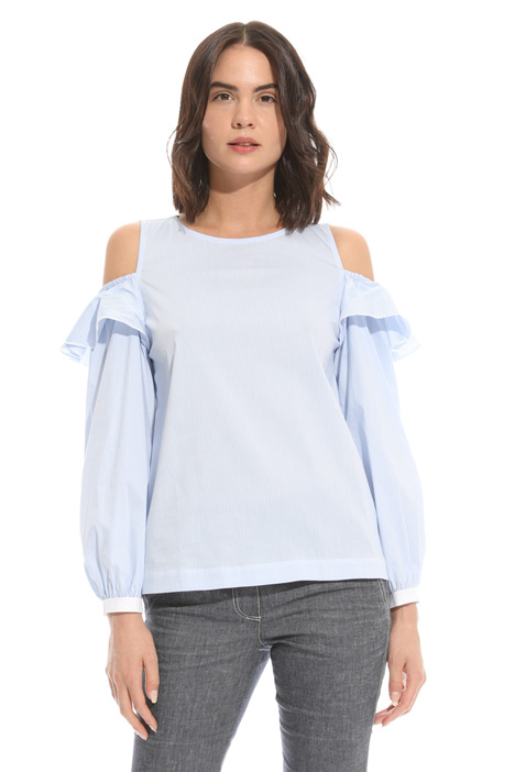Flounced poplin top Intrend