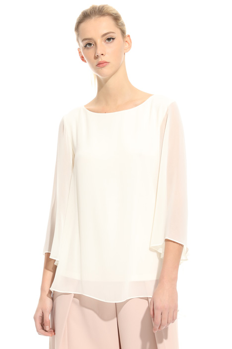 Blouse with flared sleeves  Intrend