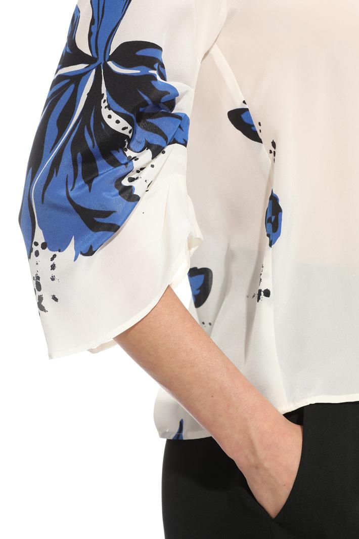 Blusa in crepe stampata Intrend