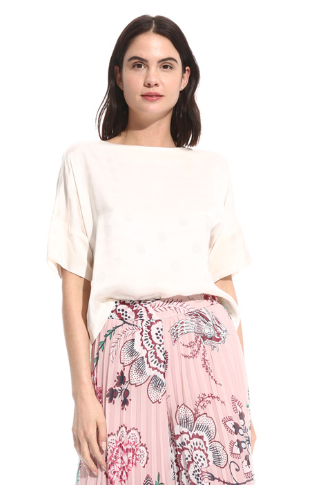 Jacquard fabric top Intrend