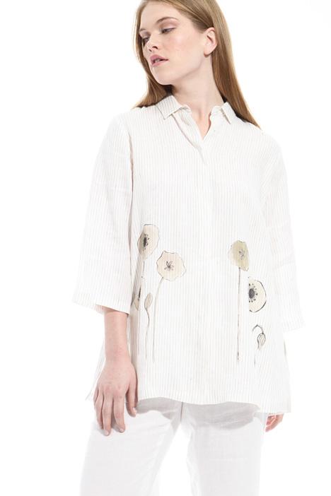 Camicia in lino con stampa Diffusione Tessile