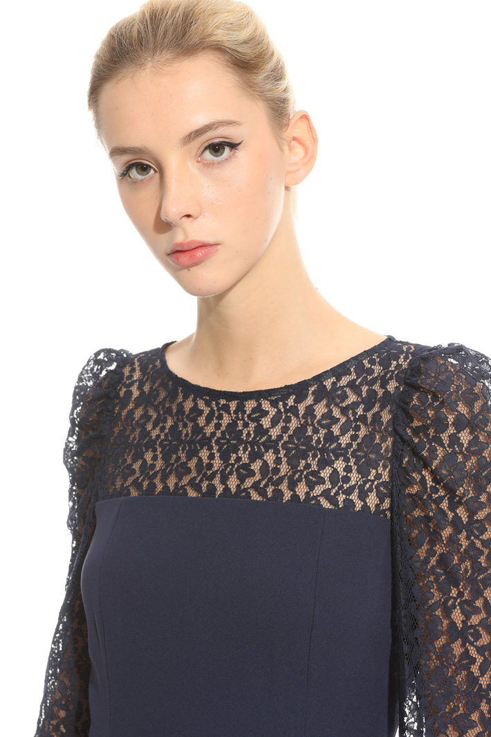 Triacetate and lace dress  Intrend