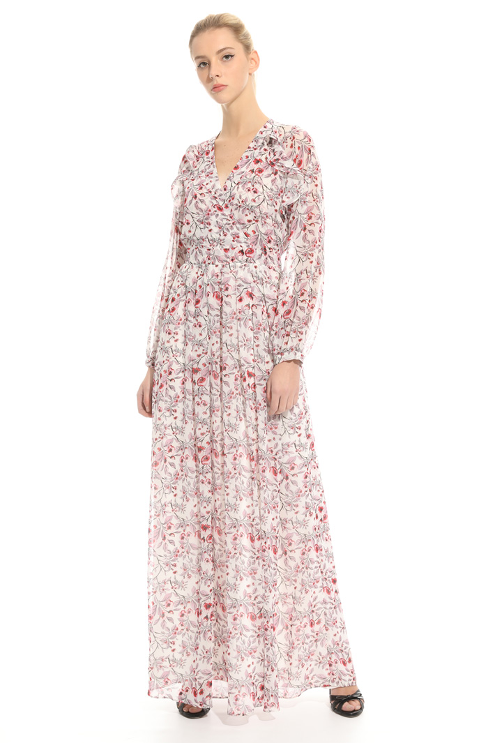 Long dress in gerogette  Intrend