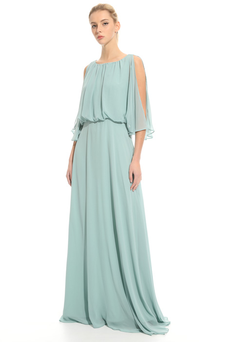 Long dress in georgette  Diffusione Tessile